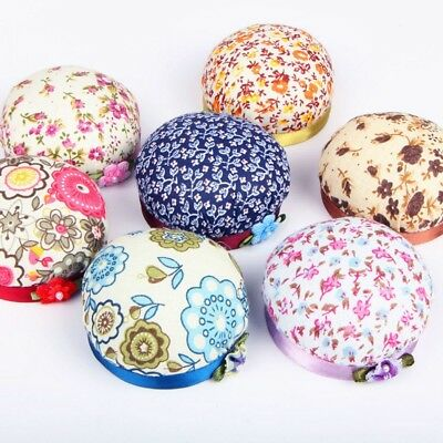 DIY Cross Stitch Cloth Wood/Plastic Base Needle Sewing Pincushion for Patch G#