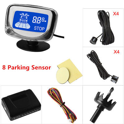 "1.8"" LCD Display Rear&Front View Car Parking Sensors Dual CPU System Voice alert"