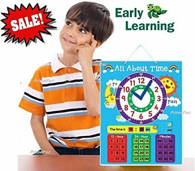 Time Telling Wall Clock Learning System. Educational Toys for Preschool &...