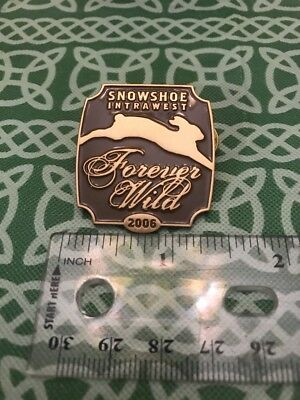 Snowshoe Intrawest WV Forever Wild 2006 Snow Rabbit Lapel Pin FREE SHIPPING