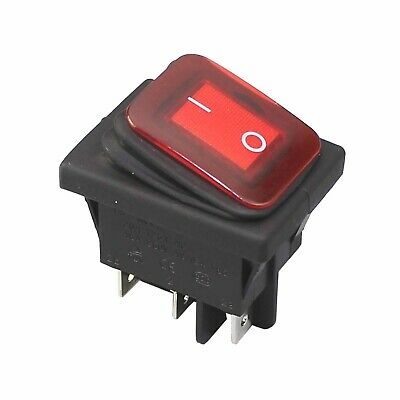 Low Cost On Off 220V Red Led Lighted Switch Waterproof Lighted Rocker Switches