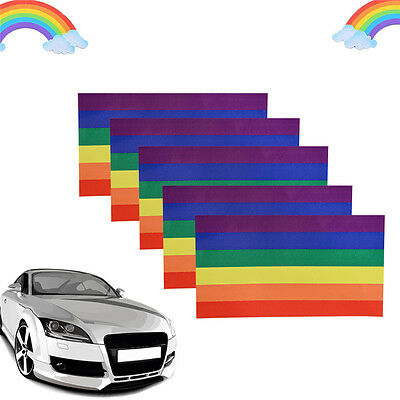 3Pack Rainbow Lesbian Gay Pride LGBT Vinyl Sticker Decal for car Hot Pro.