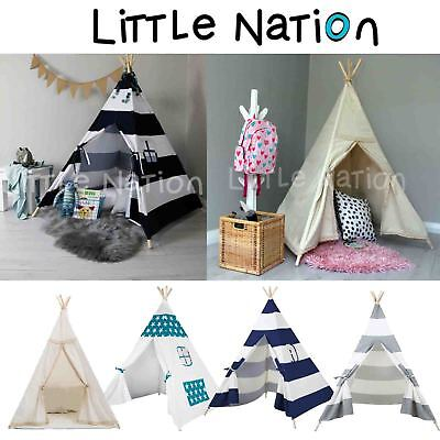 Large Little Nation Kids Teepee Tent Children Pretend Play Tipi Out/Indoor