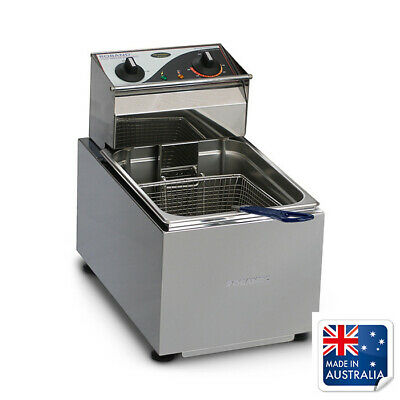 Benchtop Fryer / Deep Fryer 8L Single 15amp Roband F18 Chips & Fries