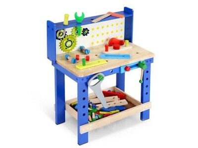 Little Nation Kids Play Toy Workbench and Tool Set Bench