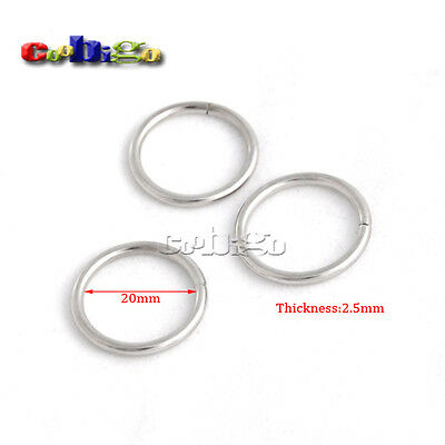 2.5mm Thickness Metal O Ring for Keychain Bag Making Decoration Link Connector