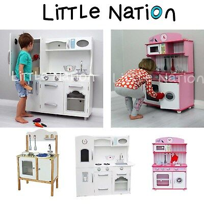 Little Nation Kids Play Kitchen. Pretend Set Toy Cooking Wooden Children
