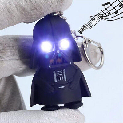 Cool Light Up LED Star Wars Darth Vader With Sound Keyring Keychain Gifts