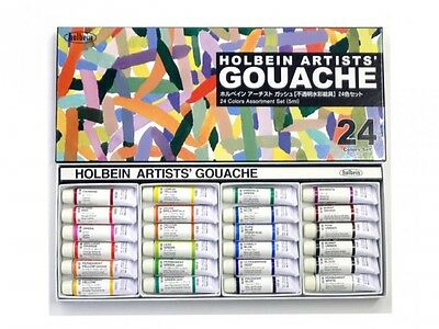 Holbein Artists' Gouache Opaque Water Colors G705 24 colors set