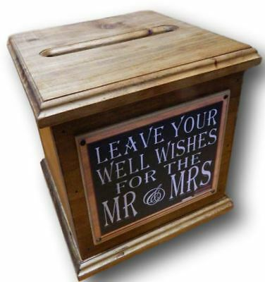 Wooden Wedding WISHING WELL Card Box Engagement, Quality Handmade New