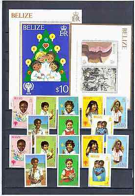 Belize 198O Year Of The Child    Mnh