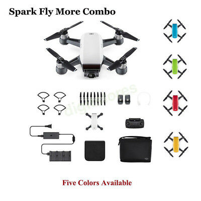 Genuine DJI SPARK FLY MORE COMBO Mini Quadcopter Drone,5 colors Available