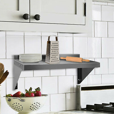 Commercial Stainless Steel Wall Shelf Work Kitchen Catering Table With Brackets