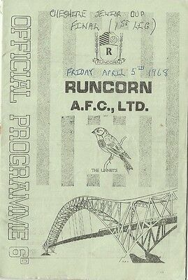 RUNCORN v CREWE ALEXANDRA 1968  Cheshire Senior Cup Final