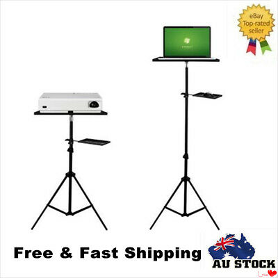 Adjustable Laptop Floor Tripod Stand With Mouse Tray Aluminum Alloy