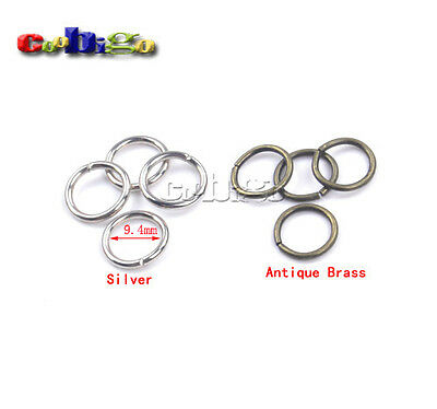 """3/8""""(9.4mm) Inner Dia.Metal O Ring Non Welded For Connection Key Chain Key Ring"""