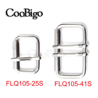 Silver Single/Double Belt Roller Buckle Hardware for Strap Leathercraft
