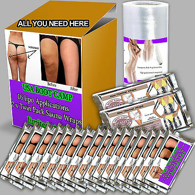 16 PACKS weight loss watcher slimming body clay wrap kit it works for inch-loss