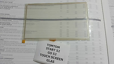 TOMTOM START 52 4AA53 TOUCH SCREEN DIGITIZER GLAS  ersatz für LCD Display