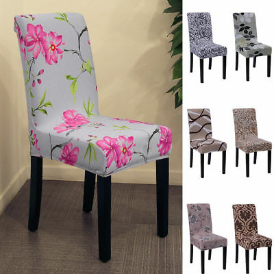Removable Elastic Slipcovers Short Dining Room Chair Wedding Seat Cover Décor UK