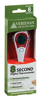 Veridian Healthcare Oral Thermometer New Digital Read Temperture 8 Seconds