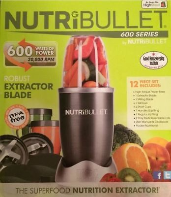 NutriBullet 600W Juicer Blender Nutrition Extractor - 12 PCS SET