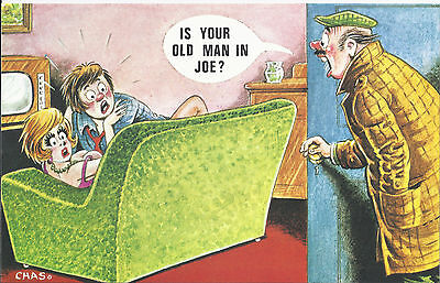 Vintage 1970's Bamforth COMIC Postcard (as new condition) Old man in JOE #540
