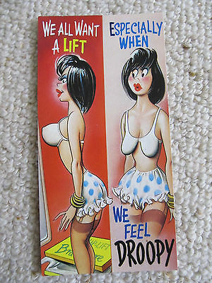 Vintage 1970's Bamforth SLIM COMIC Postcard (Scarce as new), Want a LIFT C10
