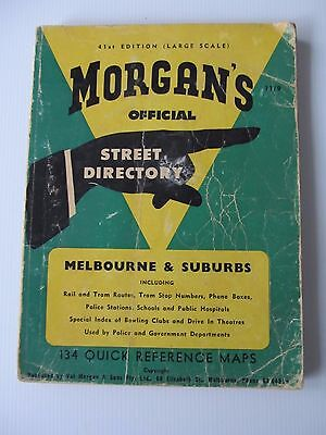 Collectable Morgan's Melbourne Street Directory 41st Large Edition circa 1950's