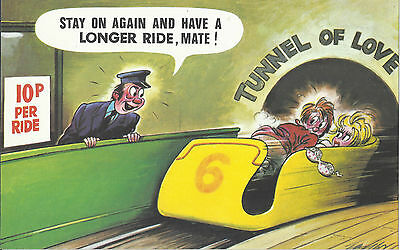 Vintage 1970's Bamforth COMIC Postcard (as new condition) longer ride #449