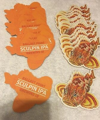 Lot of 28 Beer Coasters – Ballast Point Brewing Company – Sculpin IPA - New