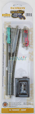 N Scale E-Z Track® System #6 Remote Turnout - Right Hand Bachmann #44860