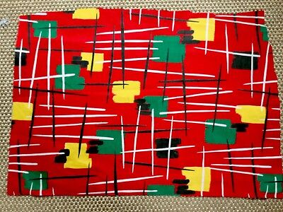 Vintage 1950  Atomic French Curtain  Fabric