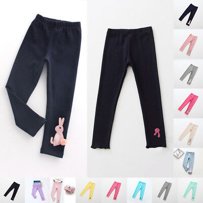 Winter Kids Baby Girls Cotton Bottoms Leggings Warm Thick Lined Pants Trousers