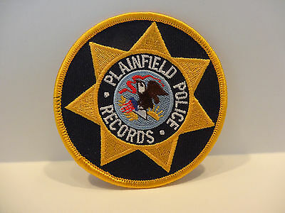 Plainfield Illinois  Police Records Patch.