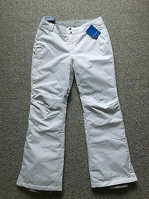 COLUMBIA Women's Arctic Trip Snow/Ski Pants  Large Regular/White  New with Tags