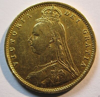 1890 Half Sovereign Gold Coin