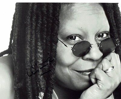 Whoopi Goldberg  Actress Ghost Colour Purple Hand Signed Photograph 10 x 8