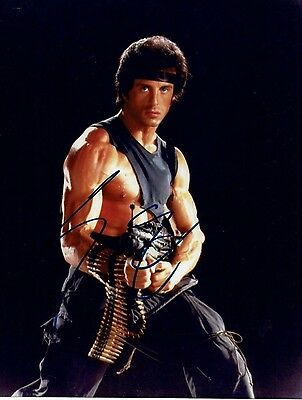 Sylvester Stallone American Actor Rambo  Hand Signed Photograph 10 x 8