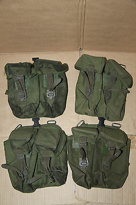 4 PLCE British Army Double Ammo Pouches Left Olive Webbing Grade 1