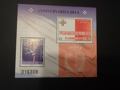 Malta 2014  Independence - 50th Anniversary (1964-2014) S/S Mint NH  VF