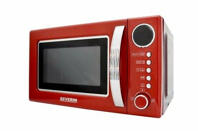 Severin MW 7893 Retro-Mikrowelle mit Grillfunktion 2-in-1