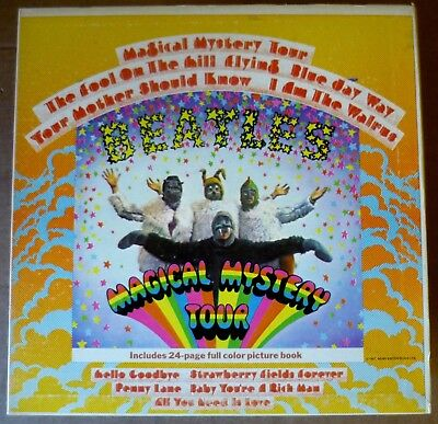 THE BEATLES Magical Mystery Tour LP APPLE 1967 US re+book+foc+stereo SMAL 2835