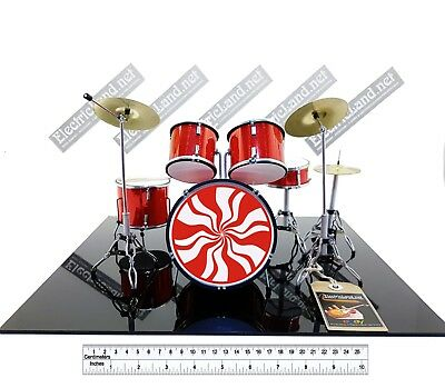Mini Drum Set WHITE STRIPES meg miniature guitar memorabilia jack batteria rock