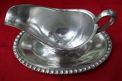 1898 FENWICK or PEARL or LANDCASTER  Pattern By Rogers Gravy Bowl Silver Plated