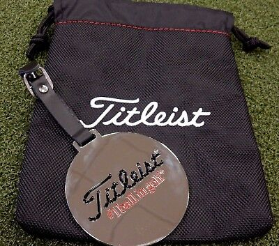 RARE! Team Titleist Reflective Hanging Bag Tag Medallion w/ Pouch *MINT*