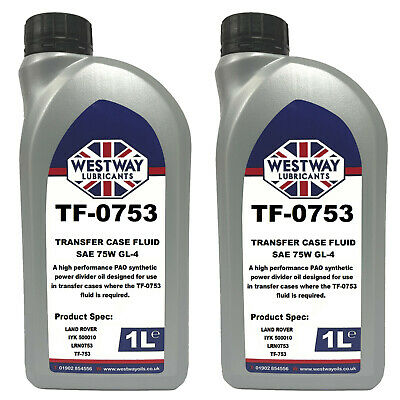 2L TF-0753 Transfer Case Fluid TF0753 IYK500010 LRN0753 2 Litres Transfer Box