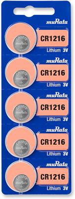 Sony Lithium 3V Batteries Size CR1216 (Pack of 5 - Tracking Included!