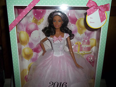 Barbie 2016 Birthday Wishes Doll With Brunette Hair
