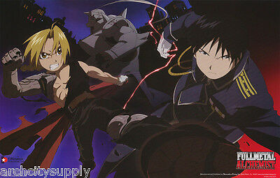 Lot Of 2 Posters :tv: Fullmetal Alchemist - Action -  Free Ship  #3420    Lw21 O